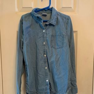 Girls button down jean shirt